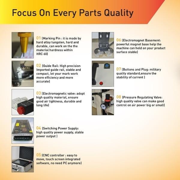 Olcsó hordozható CNC pontozott Peen Marker, kiváló minőségű - Famegmunkáló berendezések - Fénykép 5