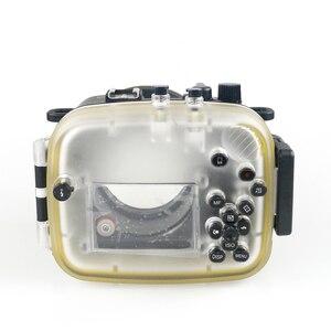 Image 2 - 130FT/40 متر لكانون PowerShot G1 X مارك II تحت الماء عمق الغوص الحال بالنسبة لكانون G1X II كاميرا مقاومة للماء الإسكان غطاء صندوق