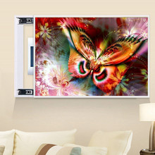 DIY 5D diamond painting three-dimensional animal butterfly cross stitch mosaic diamond embroidery rhinestone decoration craft стоимость