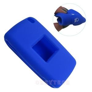 Image 3 - OkeyTech 3 düğmeler yumuşak silikon kauçuk araba anahtar kapağı kılıfı kabuk cilt koruyucu Fob Citroen C2 C3 C4 Picasso Xsara C5 c6 C8