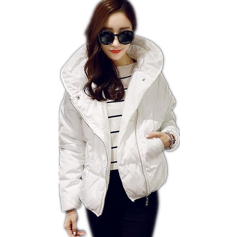 2018 Hot Winter Women Down Cotton Jacket Coat Short Padded Hooded Thicken Slim Women Winter Cotton Size S-XL Down Parkas CQ176