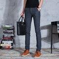 2016 Novos Homens de negócios Calças Primavera/Verão/Outono dos homens Slim Fit Casuais Calças Moda calças Retas Magros calças