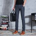 2016 Nuevos Hombres de negocios de Primavera/Verano/Otoño de Los Hombres Slim Fit Pantalones Casuales Moda pantalones Rectos Flacos pantalones
