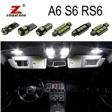 Белый Canbus безошибочный светодиодный светильник для внутренней купольной карты, комплект для Audi A6 S6 RS6 C5 C6 C7(1994