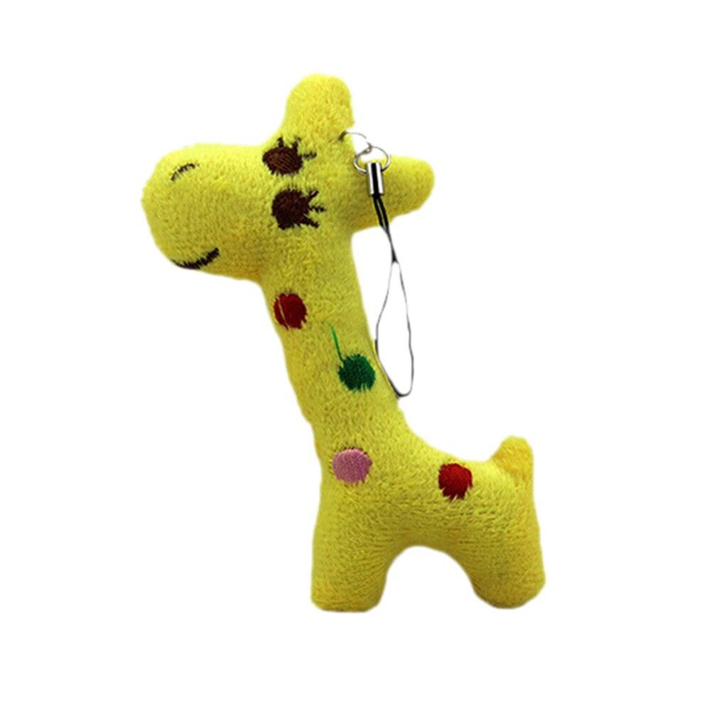 3 Colors Gift Baby Plush Doll Toy Mini Giraffe Key Chain For Kids