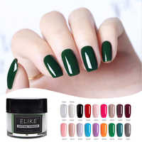 ELIKE glisten dip powder 10g without lamp cure natural dry easy soak off 2019 fashion latest nail dip powder system nail salon