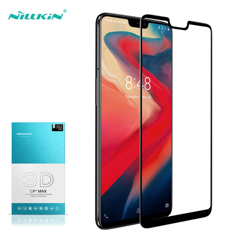 oneplus 6 tempered glass screen protector One Plus 6 Full Cover Nillkin 3D CP+ Max Vidro Pelicula Film for oneplus6