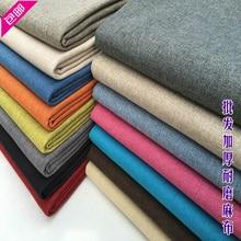 Sofa thickening linen cloth plain fabric table cushion pillow cover fluid diy bag
