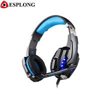 EACH G9000 Bass Gaming Headset Headband Earphone with Microphone LED Light Gamer USB Headphone for Laptop