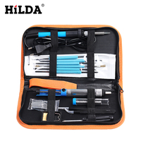 HILDA 8 In 1 Full Kit 60W Adjustable Temperature Electric Soldering Iron Kit With 5pcs Tips