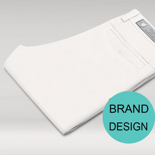 2017 pantalon homme blanc rectos para hombre pantalones pantalones de algodón de negocio regular rojo largo marca de diseño blanco vestido de los hombres de las bragas 480