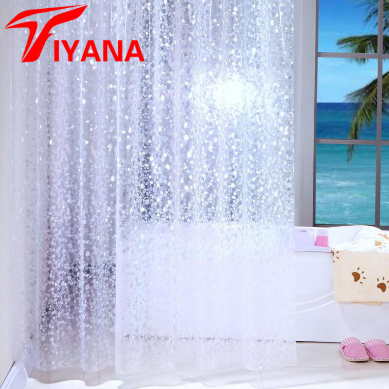 Shower Curtain Waterproof Mouldproof Thickening Ratchel Pattern Finished Bathroom Hotel Curtains With Hooks PEVA Fabric SC006D15
