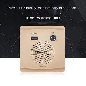 Image 2 - JINSERTA Bluetooth Speaker Smart Socket Mount HiFi Music Player Handfree 110 230V&5V 2.1A USB Charging Port