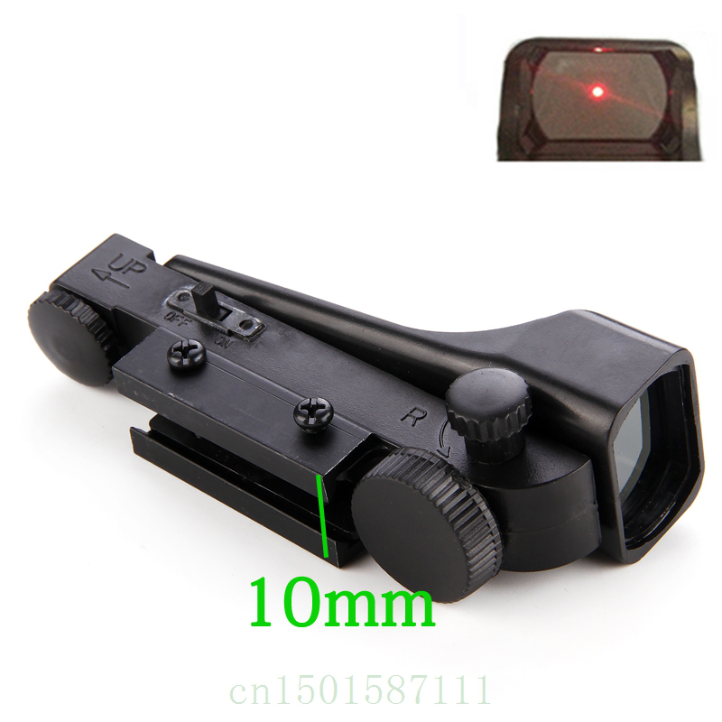 Gratis verzending Tactical Reflex zicht Red Dot Sight Scope Wide View Airgun 1x20x30 Riflescope Airsoft voor 20mm Weaver Rail Mounts