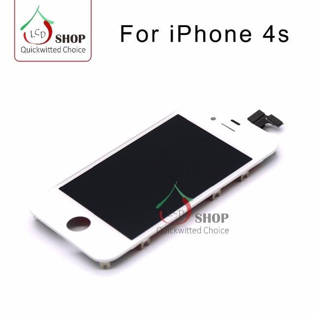 5e217b3b5ec 20 unids/lotfor iPhone 4S blanco y negro color LCD pantalla + Touch  digitizer reemplazo