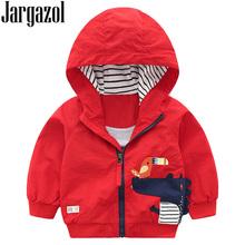 Jargazol Baby Kids Jacket Autumn Toddler Girls Boy Coat Crocodile Bird Embroidery Hooded Boys Zipper Outwear 3 4 5 6 7 Years