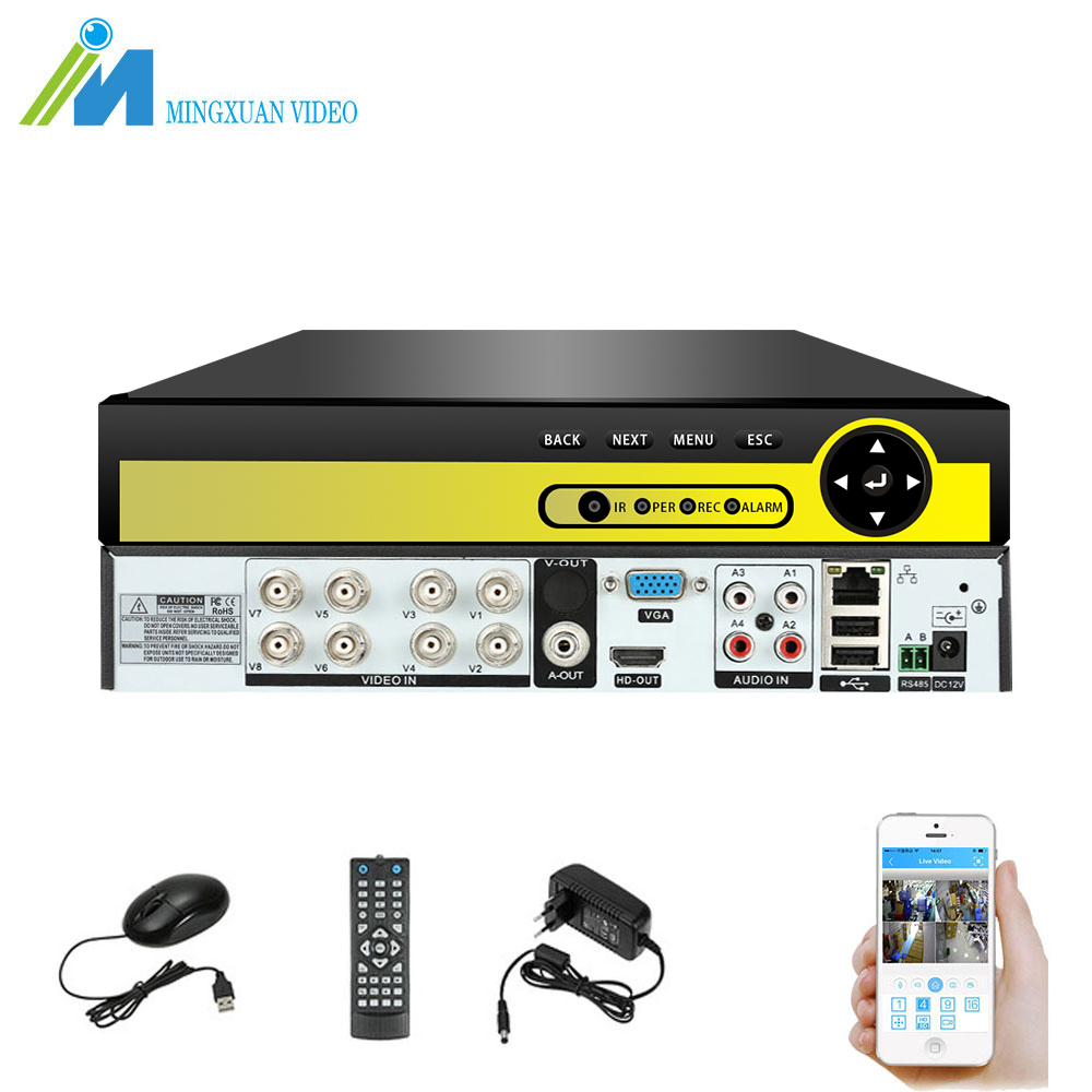 MX CCTV DVR 8CH 1080P H.264 AHD DVR NVR Digital Video Recorder P2P for CCTV HDMI Video Output Support Analog AHD IP Camera Kit st 769 uu dvr ahd 4ch usb ahd audio dual display for live and playback video capture card cctv recorder p2p motion detect