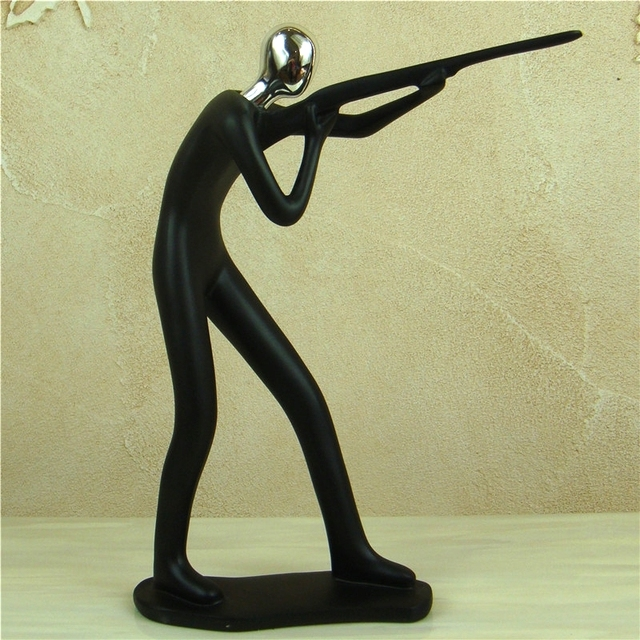 Abstract Sportsman Figurine Electroplated Resin Athlete Figure Miniature Competition Sport Souvenir  4
