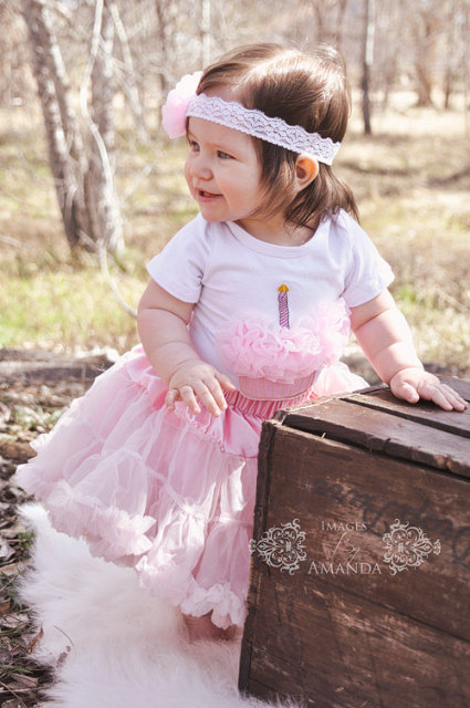 Girls pink Pettiskirt Birthday Outfit Petti Skirt Tutu Baby Girl Newborn pettiskirt bubble gum pink Tutu