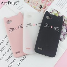 3D Cartoon Glitter Cat Silicone Phone Case for LG Q6 / Q6 Plus X600 /Alpha M700 Q6A Ears Bearded Cat Soft Cover(China)