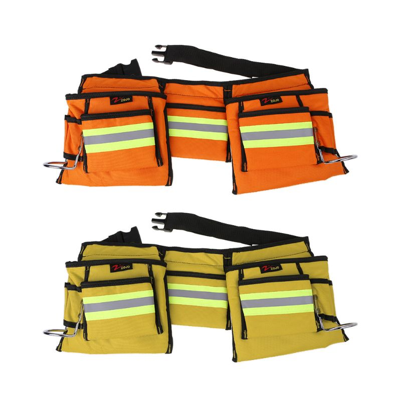 600D Oxford Cloth Tool Belts Waist Bag Electrician Work Bags Utility Pouch Storage Organizer With Reflective Strip