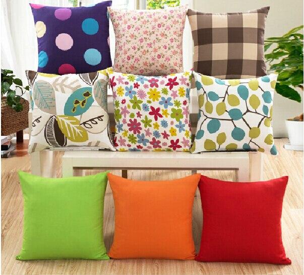 Home Decorative 45x45cm 18x18 Throw Pillow Case Sofa Chair Seat Waist Back Cushion Covers
