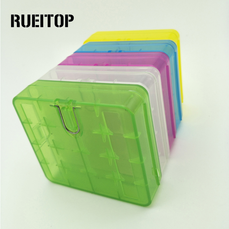 цена на RUEITOP 1Pcs 4x 18650 holder Hard Plastic Case Holder Battery Storage Box For 1-4pcs 18650 Battery Case Container Holder