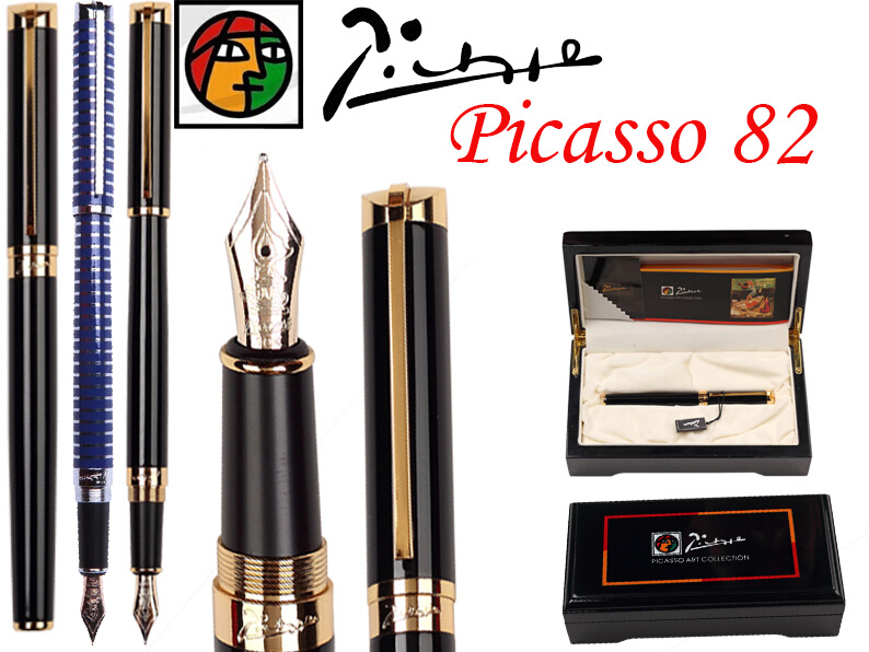 Fountain Pen Black M 10 K Solid Gold Nib Picasso 82 stationery the best gift Free