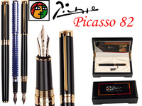 Fountain Pen Black M 10 K Solid Gold Nib Picasso 82 stationery the best gift Free Shipping