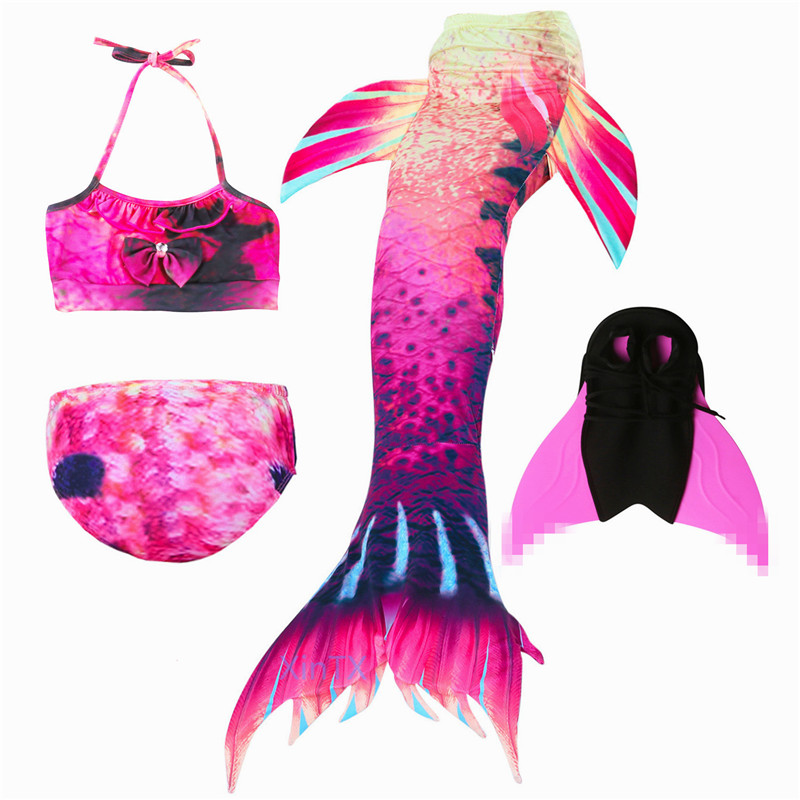 HOT 2018 New Arrival Ariel Mermaid tails for Kids Girls Children Bikini Suit Swimmable Mermaid Costume Birthday Gifts for Kids