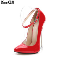 2018 New Women Pumps Sexy 16CM High Heels Shoes Fashion Pointed Toe Wedding Party Women Shoes size 35 44