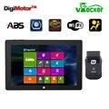 Win10 10.1 polegada tablet + função como launch x431 idiag easydiag vpecker automotriz scaner obd2 wifi scanner de código de ferramenta de diagnóstico