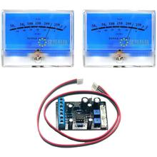 2pcs Classic Lake blue DB Level Header Audio power Amplifier VU Meter McIntosh figure with 1pcs TA7318P VU Meter Driver Board цена и фото