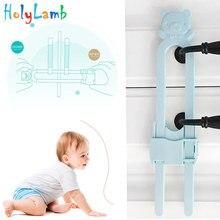 Cabinet-Lock Lock-Protection Locking-Stopper Baby Child Newborn of U-Shaped Cartoon-Bear
