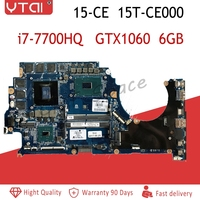 929486 601 929486 001 DAG3ABMBCD0 for HP 15 15 CE 15T CE000 Laptop Motherboard GTX1060 6GB I7 7700HQ 937751 601 938051 601