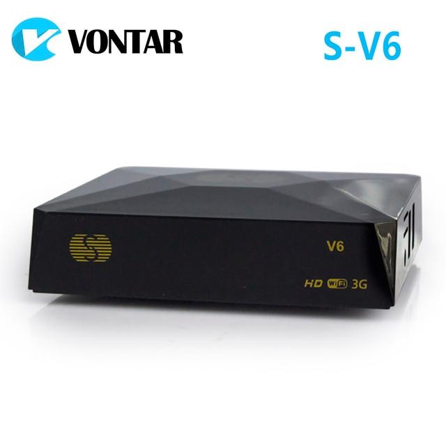 [De] S V6 Mini HD DVB S2 satélite recibidor compatible con compartir tarjeta xusb Xtream Satelital Wifi USB 3G Biss clave Youtube