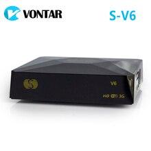 [Genuíno] S V6 mini hd dvb s2 receptor de satélite cartão de apoio compartilhamento newcamd xtream satelital usb wifi 3g chave biss youtube