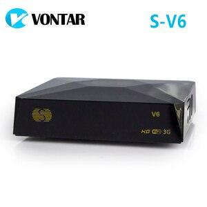 Image 1 - [אמיתי] S V6 מיני HD DVB S2 לווין מקלט תמיכת כרטיס שיתוף Newcamd Xtream Satelital USB Wifi 3G מפתח ביס Youtube