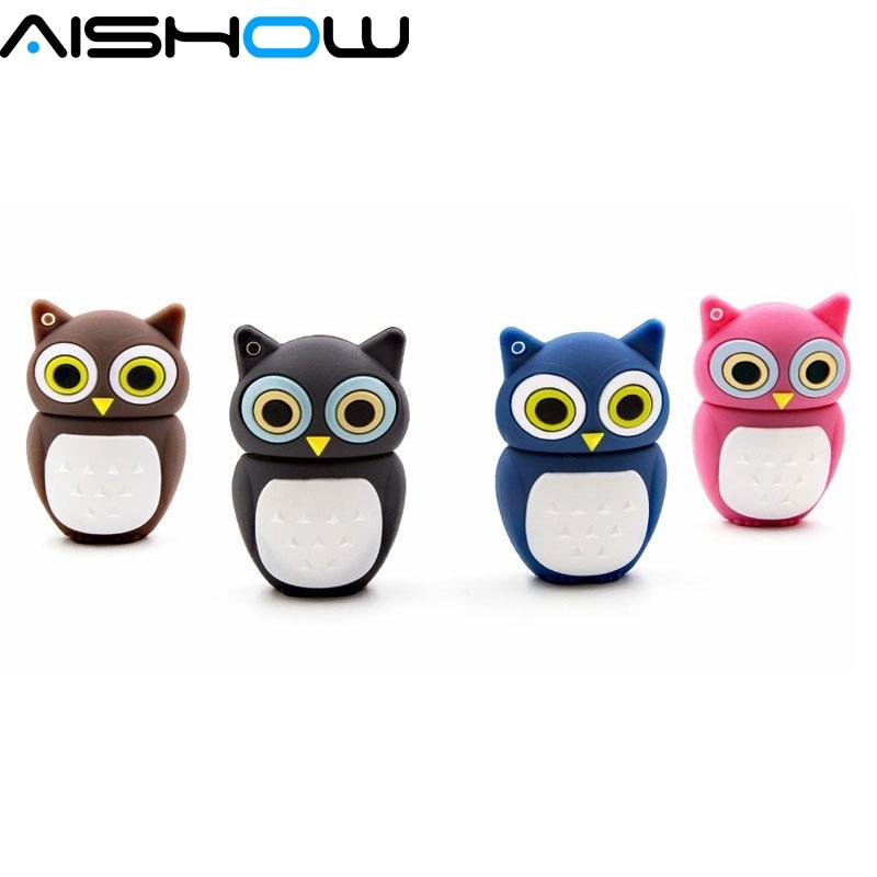 Creative cute New USB flash drive, pen drive cartoon owl memory stick DIRVE, excellent quality, 8GB 16GB 32GB 64GB