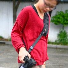 Фирменная Новинка Быстрый Быстрое Камера одного плеча декомпрессии слинг с черным пояском ремешок для SLR DSLR
