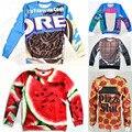 Funny 3D Food Sweatshirt Pizza Slut/watermelon/cookie/chocolate Bar/Strawberry Printed Novelty Women Men Hoodie