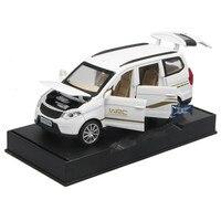 For Wuling Hongguang Van Model Auto Speelgoed Music Light Pull Back Open Door WRC Car Model Decoration Toy Vehicle Hotwheel 2018