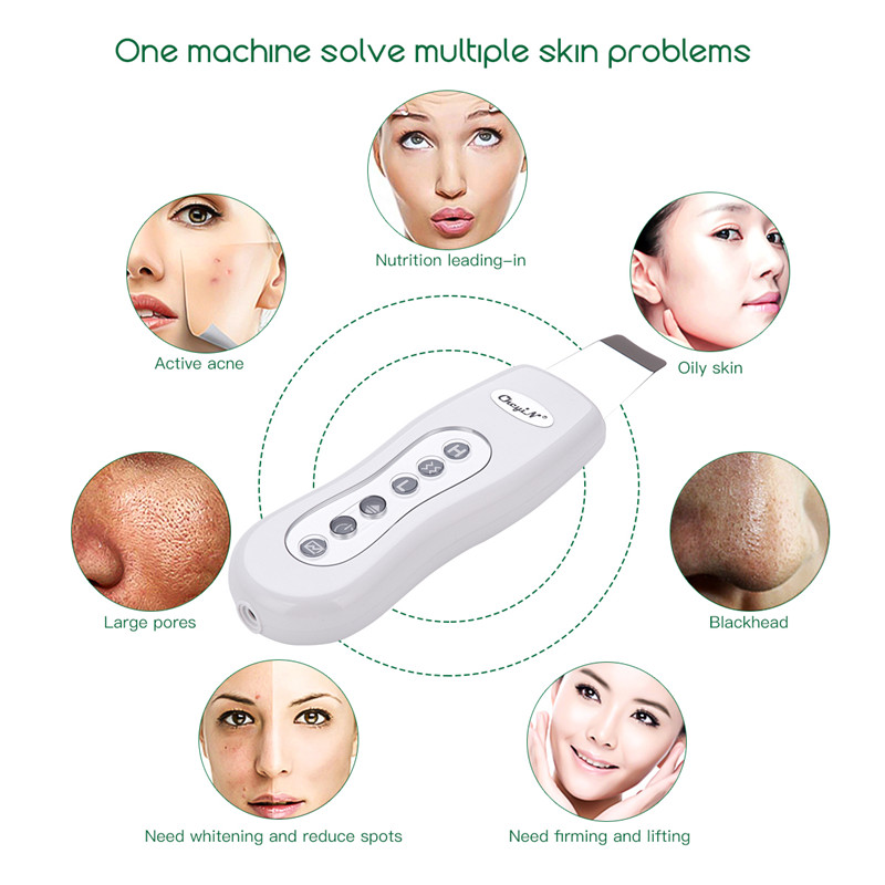 Ultrasonic Face Skin Scrubber Blackhead Acne Removal Facial Massager Face Peeling Cleaner Cleaning Facial Machine Beauty Care