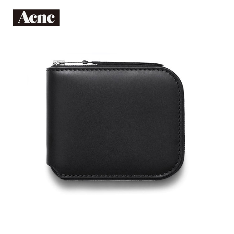 Acne Women Genuine Leather Small Short Wallet,fashion Lady Real Leather Purse,acne Wallet,free Shipping