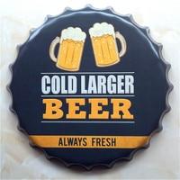 Gold Larger Beer Always Fresh metal tin sign crafts 40 cm vintage home decor beer sign for bar home pub LY83518