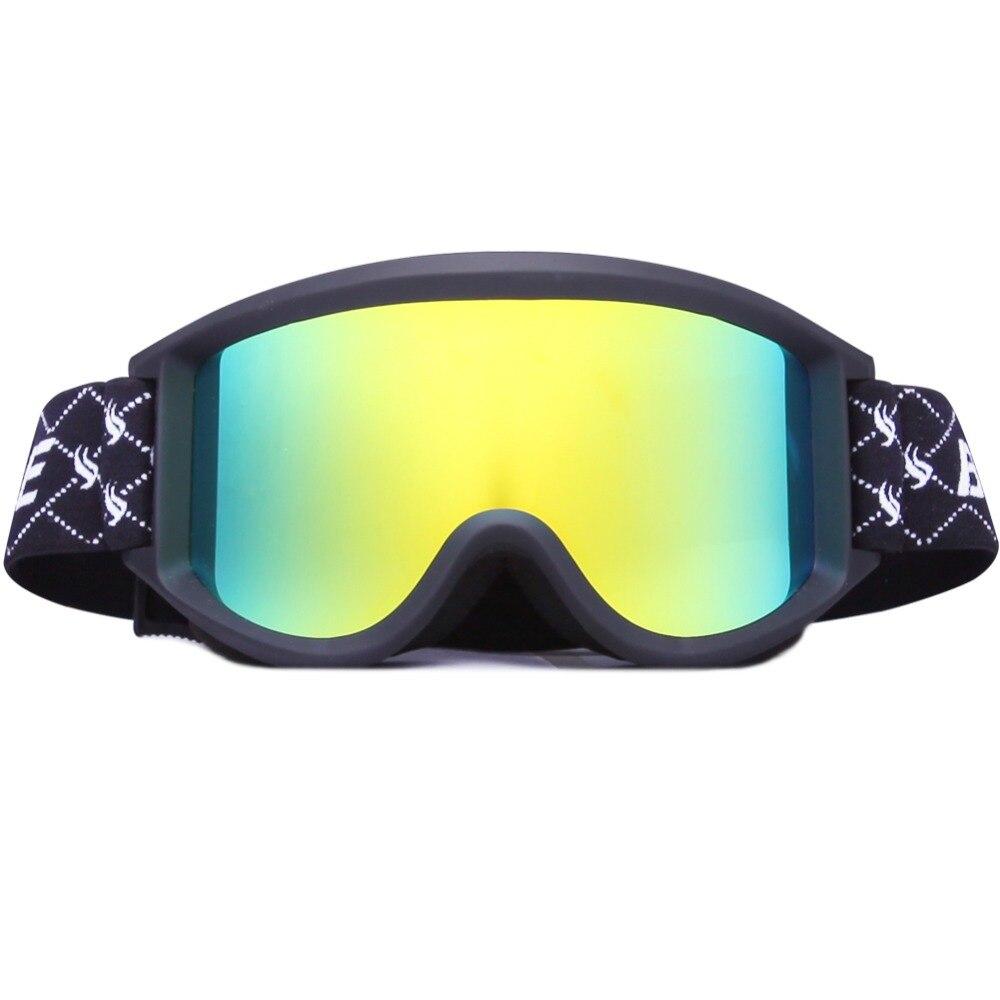 Benice бренд взрослых профессиональных простой сноуборд Очки УФ-защиты двойной анти-туман объектив очки для лыж Очки