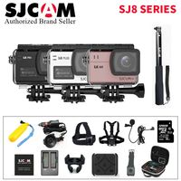 128G SJCAM SJ8 Pro 4K 60fps Sports Camera Waterproof Anti Shake Dual Touch Screen WiFi Remote Control Action Camera Sport DV