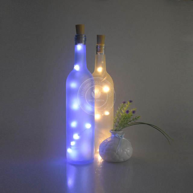 2017 newest led starry string lights wine cork led lights for winebottleglass bottle decoration christmas lights
