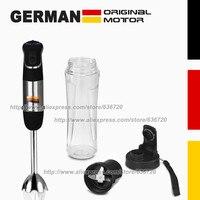 850W GERMAN Motor Technology Portable Healthy Fiber Juice Blender Mixer System With Travel Sport Bottle Black