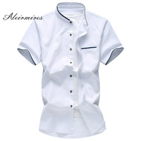5XL 6XL 7XL Men S Shirt Summer Big Size Oxford Fabric Business Casual Short Sleeve Shirt